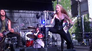 Huntress--Flesh, Eight of Swords 03Sep2017 @Rainbow Bar & Grill Backyard Bash, West Hollywood 90069