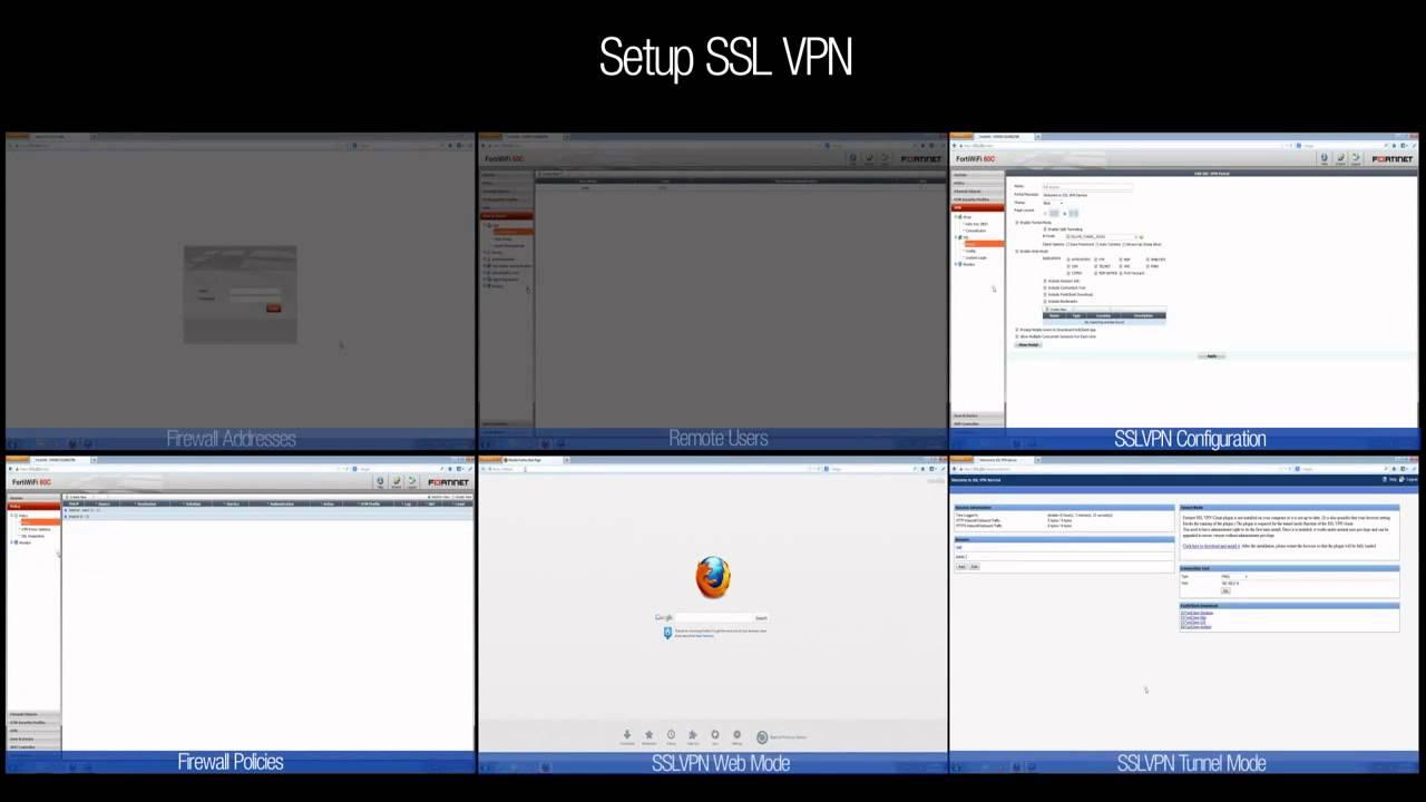 FortiGate How to setup SSL VPN (Web & Tunnel mode) for remote access
