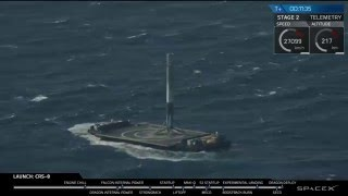 SpaceX CRS-8 First Stage Landing: I'm On A Boat (Full-Length)