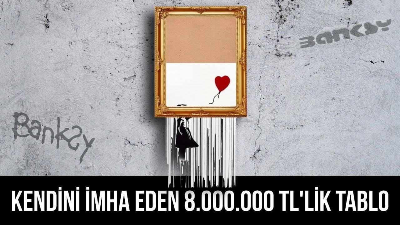 Banksy'nin 8.000.000 TL değerindeki tablosu neden kendini imha etti?