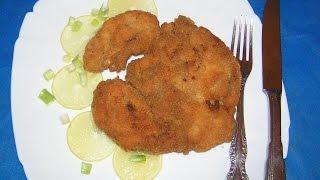 Шницель из  куриной  грудки № 117 Простые рецепты,кулинария.