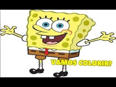 Colorindo O Bob Esponja How To Color Spongebob Squarepants