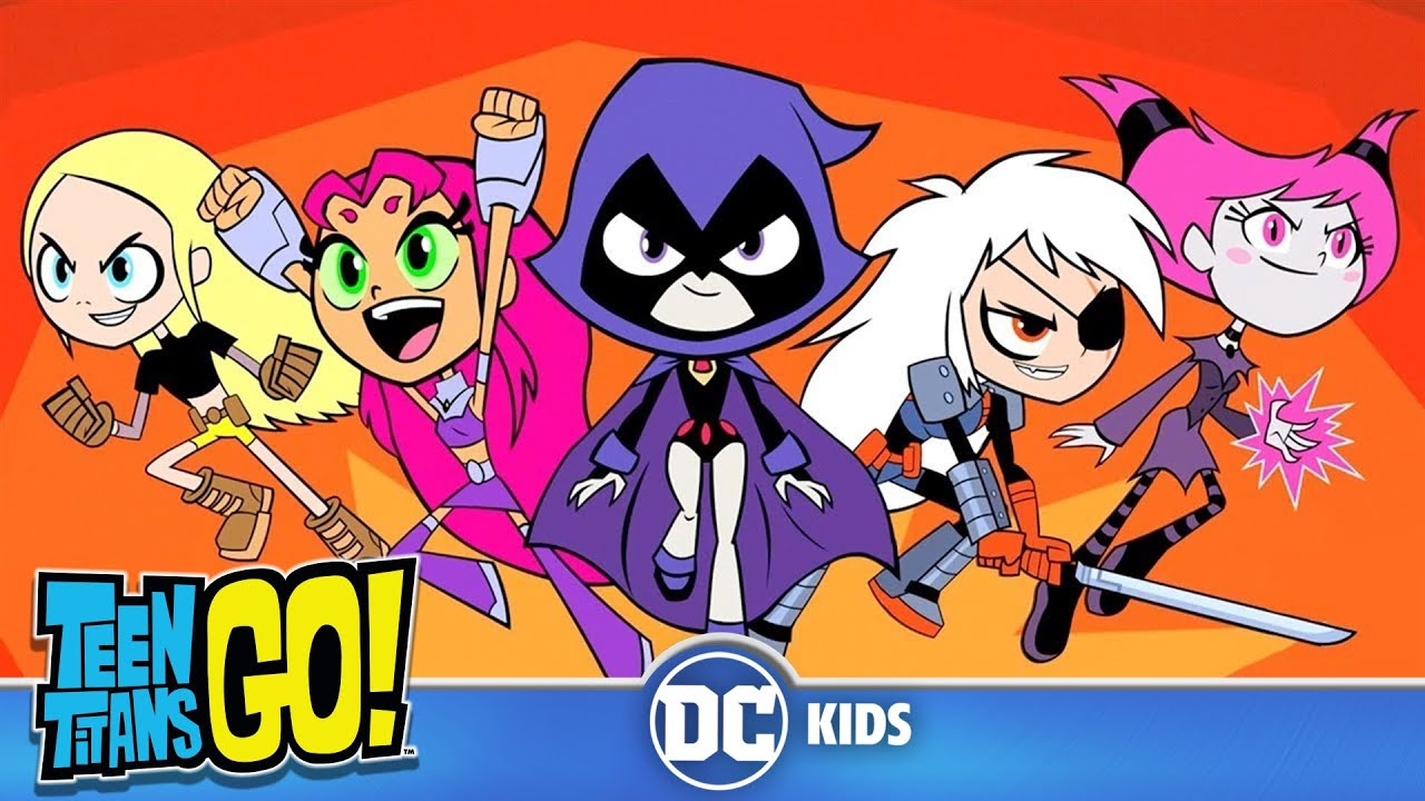 Teen Titans Go! em Português |  Noite de Todas as Garotas! | DC Kids