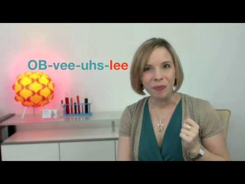 How to Pronounce OBVIOUSLY - 60sec Quick Fix with (Heather Hansen)