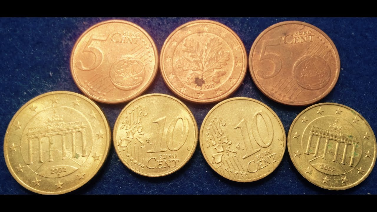 German Euro Cent Coins- Billions Made in 2002 - YouTube