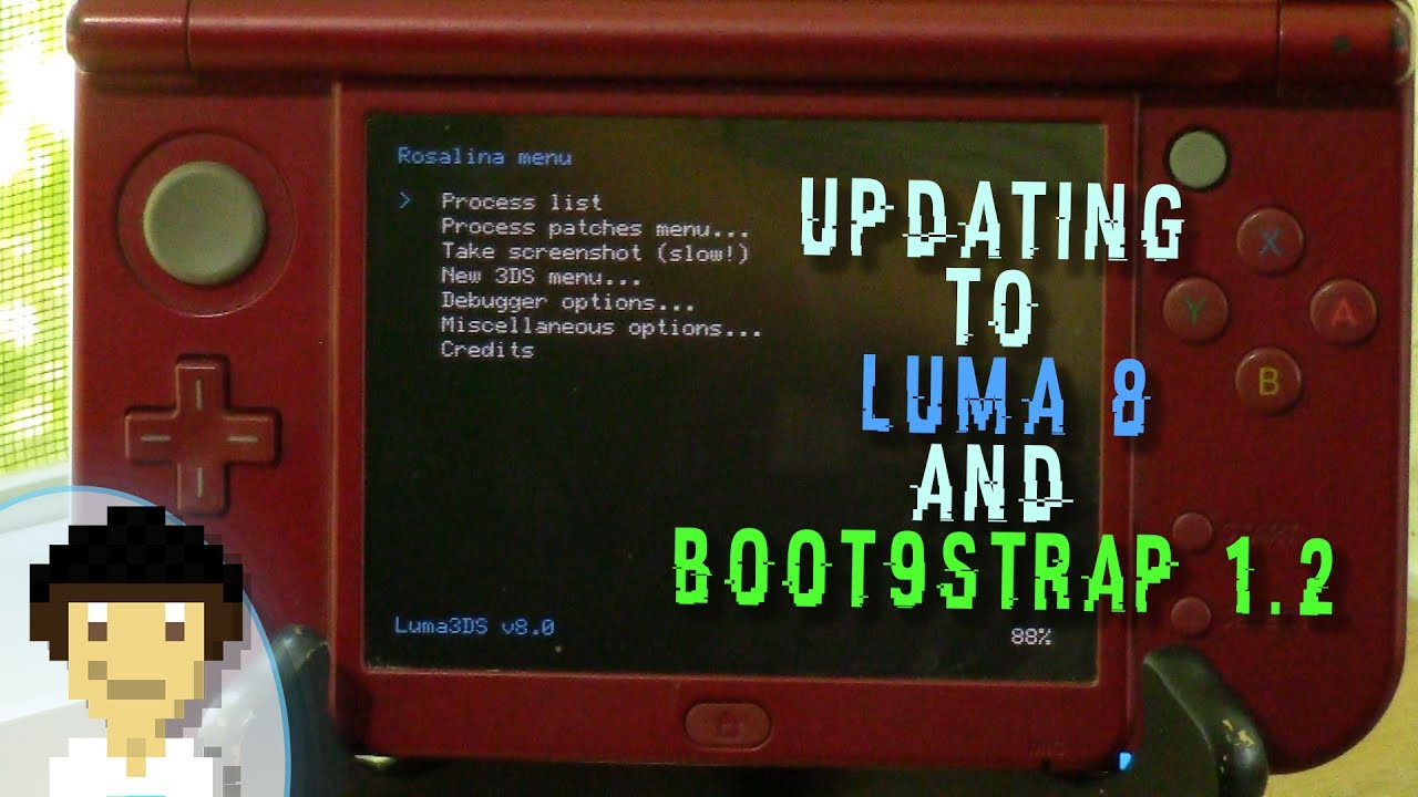 How to Update 3DS Luma CFW to 8.0 & Boot9Strap to 1.2