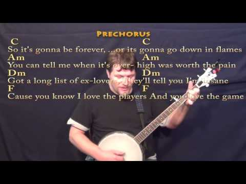 Blank Space (Taylor Swift) Banjo Cover Lesson with Chords/Lyrics ...
