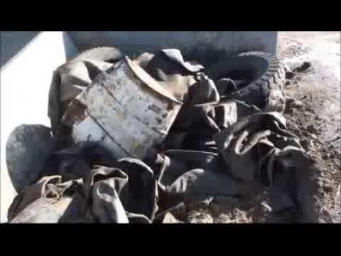 Tires shredding off the road otr d doovi for Killing tree stumps with motor oil