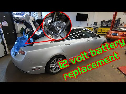 Lincoln MKZ Hybrid 12 volt battery replacement