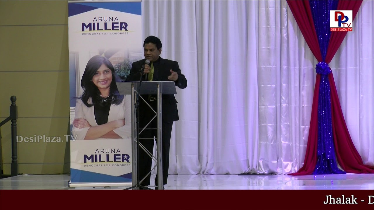 Charan Reddy thanking everyone who are part of 'DFW Indian Community - Honoring Aruna Miller' event