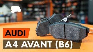 Oglejte si video vodič, kako zamenjati Zavorne Ploščice na AUDI A4 Avant (8E5, B6)