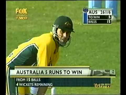 Michael Bevan 87* vs India 2001 GOA 5th ODI