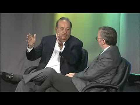 Eric Schmidt, Chairman and CEO, Google interviews Carlos Slim, Chairman, Carlos Slim Foundation and Chairman, Telmex Foundation