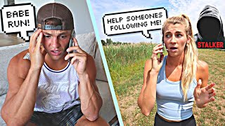 Someone Followed Me On A Run! *PRANK ON FIANCE*
