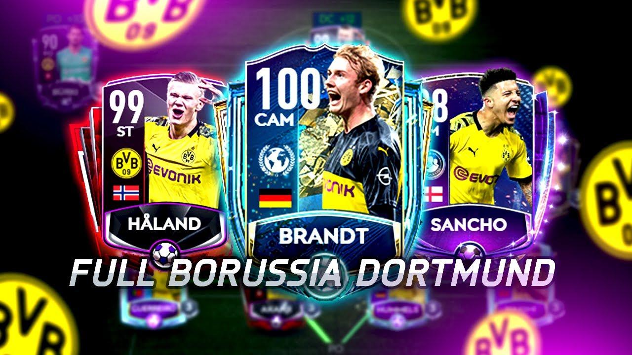 FULL BORUSSIA DORTMUND !!! HAALAND 99 GRL !!! EPICO SQUAD !!! || FIFA 20 MOBILE