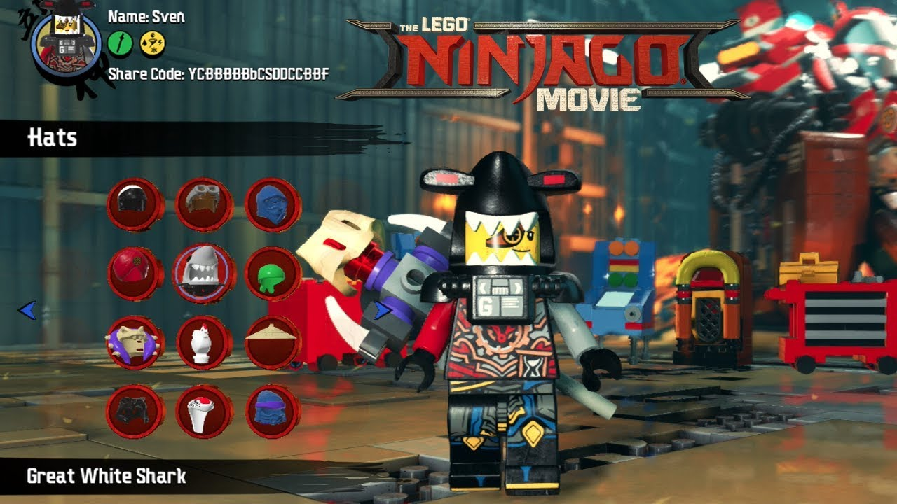 The Lego Ninjago Movie Video Game Character Creator With All