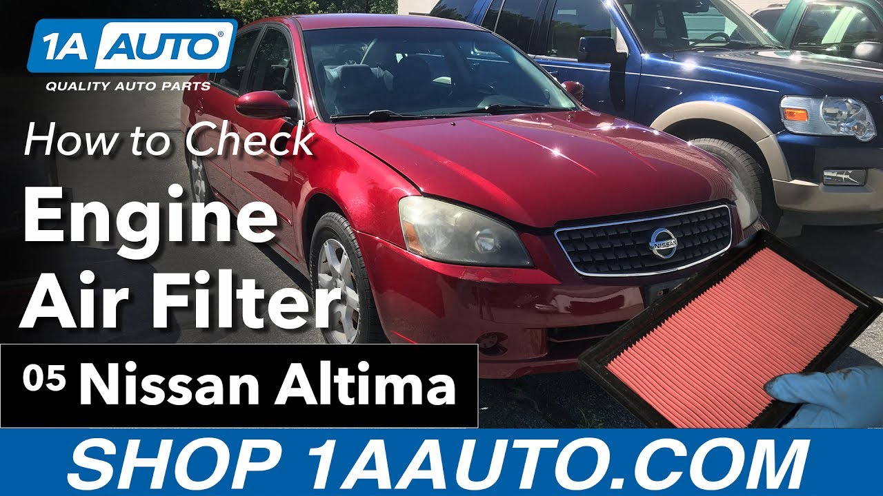 how to replace engine air filter 02 06 nissan altima youtube