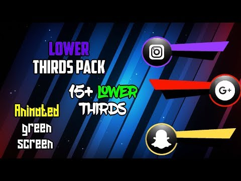 Animated Green Screen Lower Thirds pack (Ultimate) Give out #2