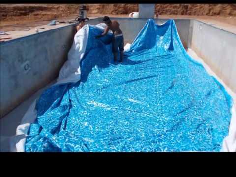 Constru o de piscina de youtube for Como hacer una piscina de obra barata