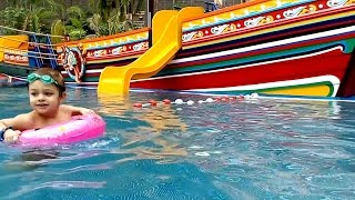 water park fun for kids video from kids toys channel