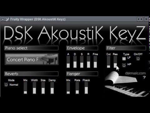 DSK AkoustiK KeyZ - Free Piano Vst Plugin