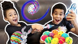 Pretend Magic Wand Turns Backpack into Easter Candy!