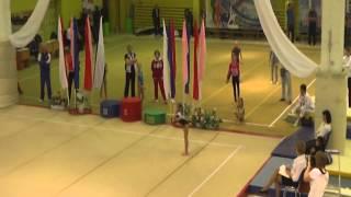 бревно финал 7 место 1 р-д Белоусова Д 2003 гр 11,466, ву Листунова В 2005 гр 5 место 10,4