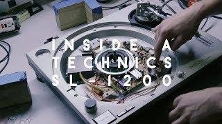 Inside a Technics SL-1200 turntable