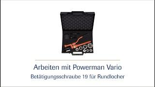 Handbetätigte Hydraulik-Stanzpumpe Powerman Vario -  Betätigungsschraube 19 HD | häwa
