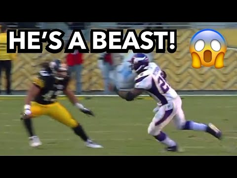 Adrian Peterson MEETS Troy Polamalu PHYSICAL MATCHUP! (2009) RB vs DB
