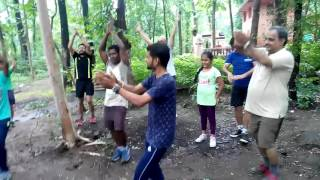 Morning ganpati bhakti @ laughter club