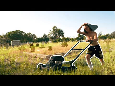 Mowing a Cemetery!