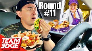 Drive-Thru Merry Go Round Challenge! *extreme Eating*