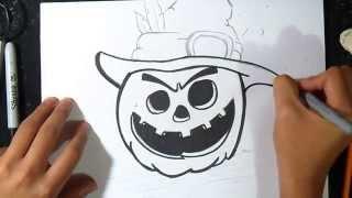 como desenhar uma abóbora | o dia das bruxas 2014
