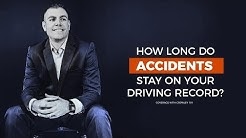 How long do accidents stay on your driving record?