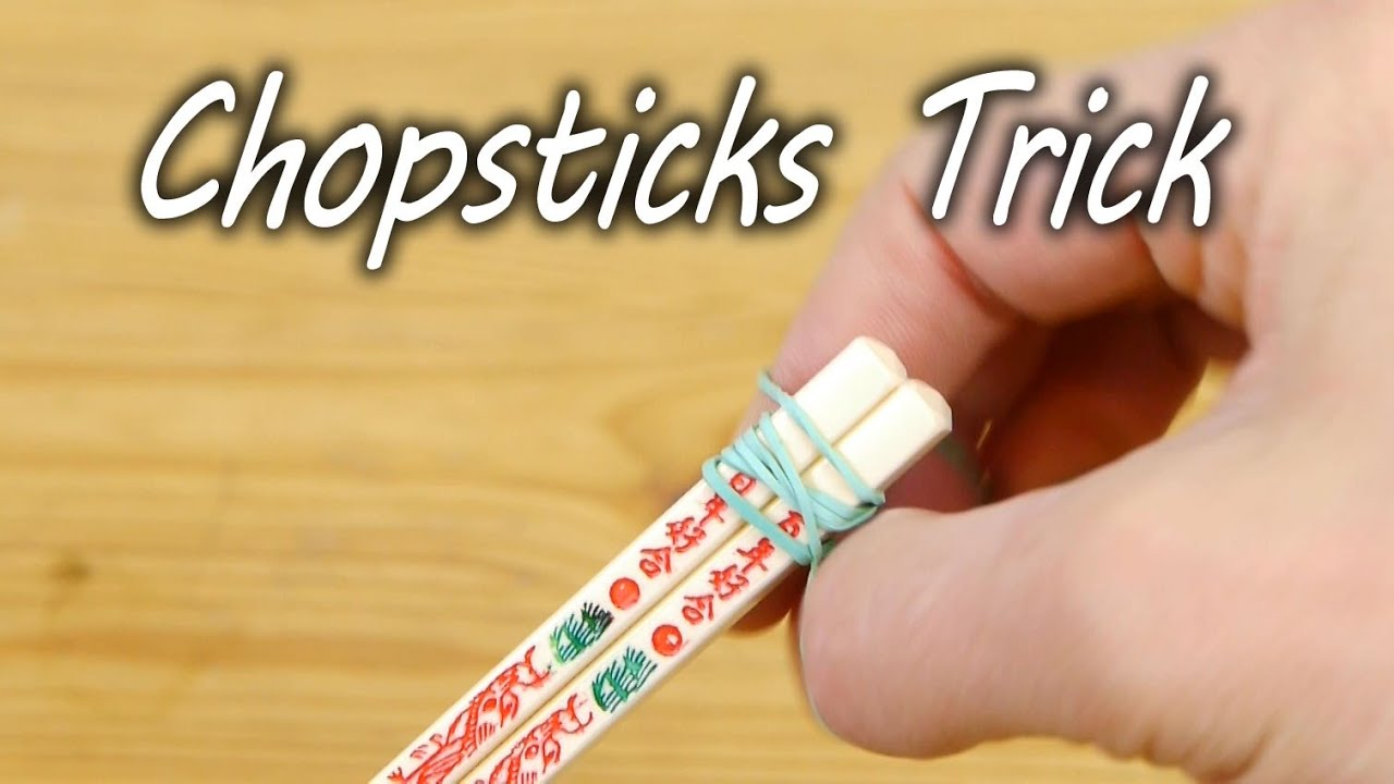 How To Use Chopsticks Life Hack Youtube