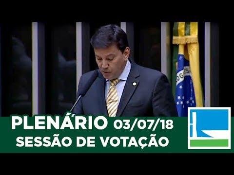 PLENÁRIO - Sessão Deliberativa - 03/07/2018 - 13:55