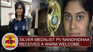 World Junior Chess Championship : Silver Medalist PV Nandhidhaa receives a warm welcome