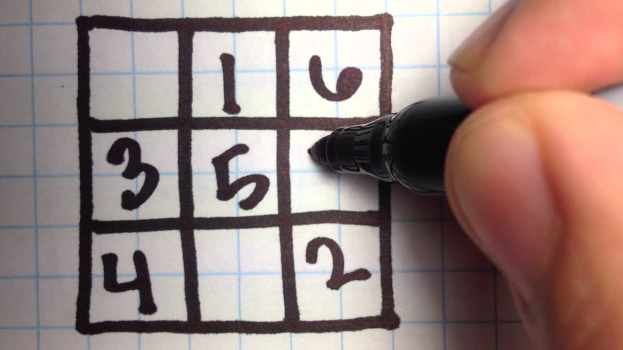 3x3 Magic Square YouTube – Magic Squares Math Worksheets