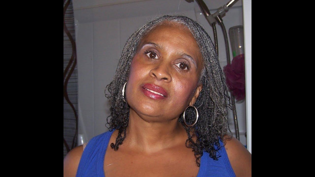 Mini Braids on Natural Silver/Gray Hair. - YouTube