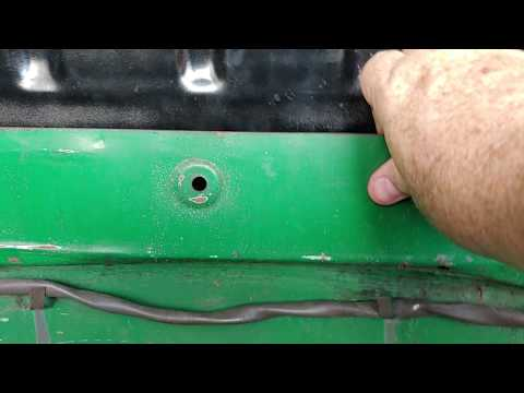 CLASSIC 1972 VW SUPER BEETLE. WHAT ARE THESE 5 HOLES USED FOR.? I NEED YOUR HELP.....