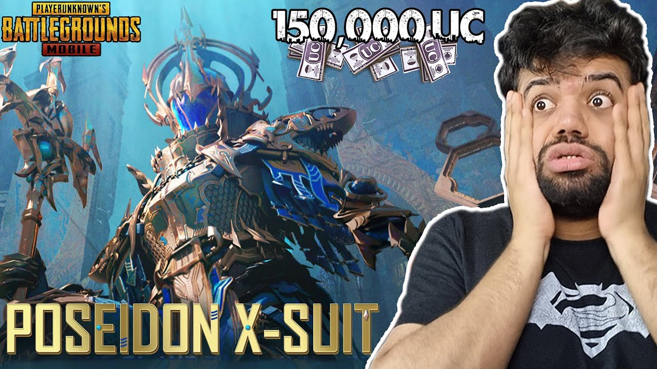 Most Expensive Suit In PUBG Mobile | 150,000 UC | Poseidon X-Suit MAXED !!!