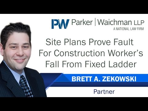 Site Plans Prove Fault For Construction Worker's Fall From Fixed Ladder – NY Lawyer Brett Zekowski