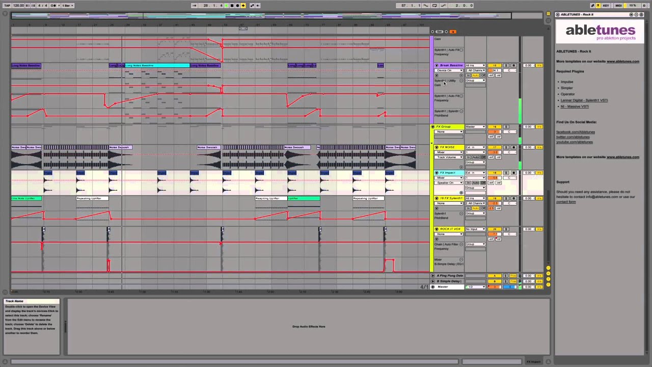 Progressive House Ableton Live 9 Template Rock It By Abletunes