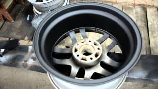 Покраска литых дисков своими руками(Ремонт дисков. Диски R17 будут стоять на BMW E60, Потратил 600 гр. грунта акриловый, метр шкурки 150 и 240 ,краски 300..., 2015-09-13T19:10:59.000Z)