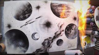 REVERSED UNIVERSE - SPRAY PAINT ART - by Skech