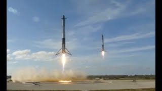 Touchdown! Two Falcon Heavy Boosters Land, Status on 3rd Pending