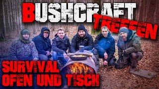 Tag1 - Survival Ofen Feuer Feuerstelle Tisch - Outdoor Bushcraft Treffen Harz 2016 - Deutschland