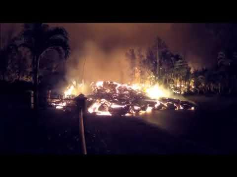 La lava del volcán Kilauea arrasa con todo a su paso en Hawái