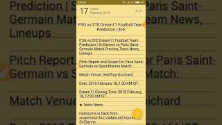 PSG vs STE Dream11 Football Team Prediction | St-Etienne vs Paris Saint-Germain | dream11 football